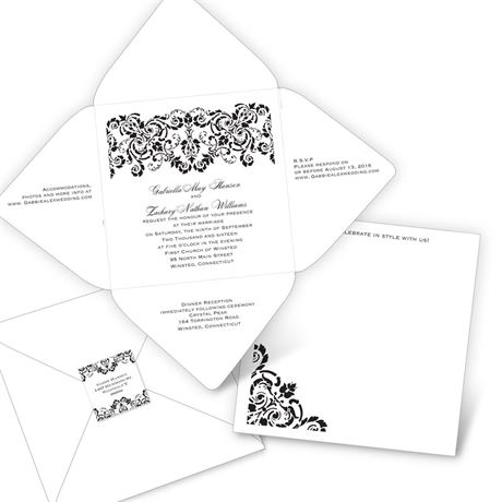 Damask Band - Seal and Send Invitation