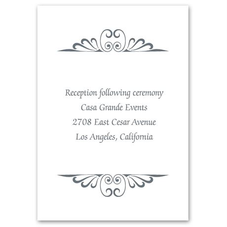 Calligraphy Perch Reception Card