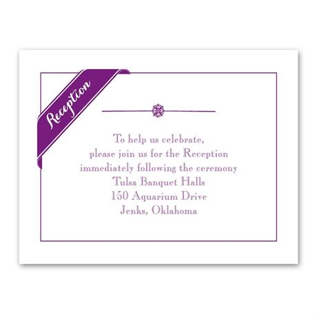 Pretty Details Reception Card