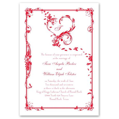 Feathered Heart Invitation