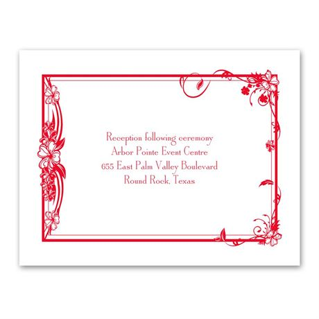 Feathered Heart Reception Card