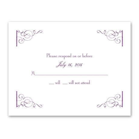 Fairy Tale Romance Response Card and Envelope