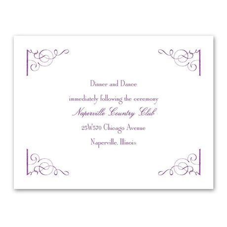 Fairy Tale Romance Reception Card