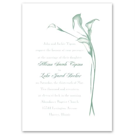 Calla Lily Arch Invitation