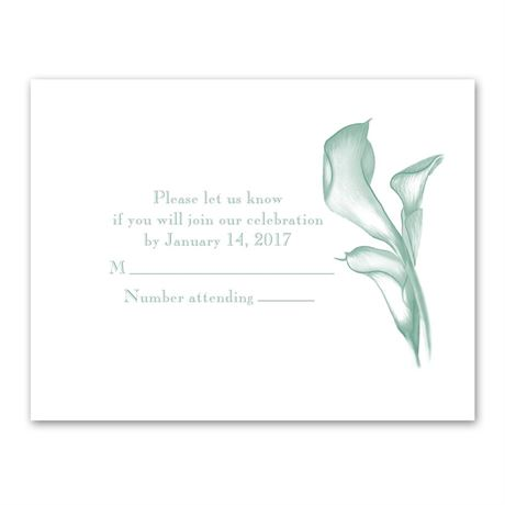 Calla Lily Arch Response Card and Envelope