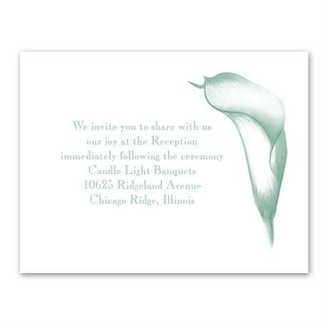 Calla Lily Arch Reception Card