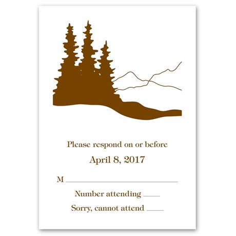 Deer Silhouettes Response Card and Envelope