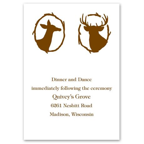 Deer Silhouettes Reception Card
