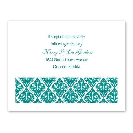 Damask Diamonds Reception Card