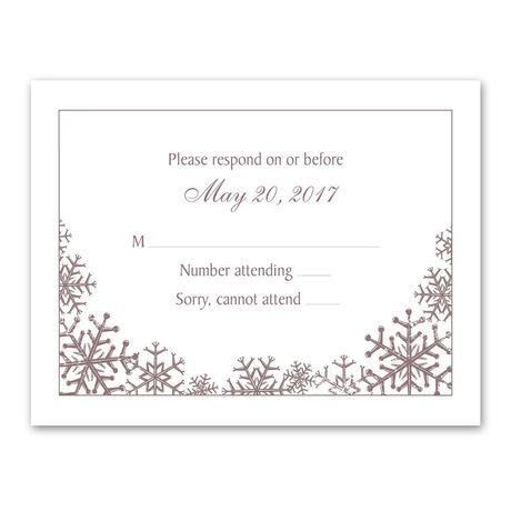 Snowflake Sensation Response Card and Envelope