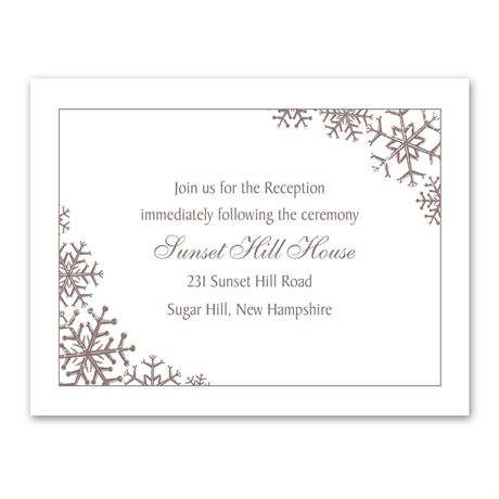 Snowflake Sensation Reception Card