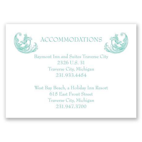 Filigree Wisps Accommodations Card