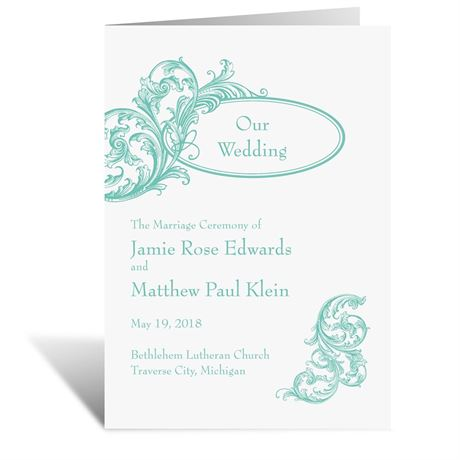 Filigree Wisps Wedding Program