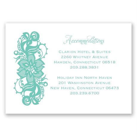 Lovely Lace Accommodations Card