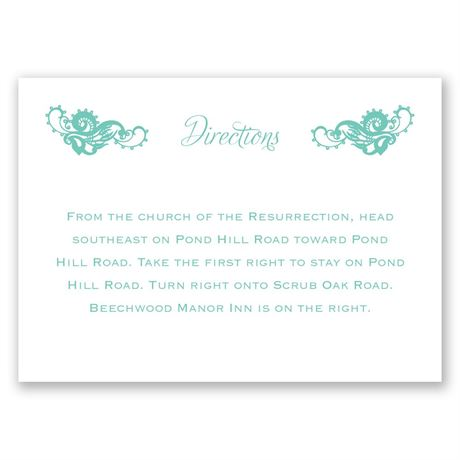 Lovely Lace Direction Card