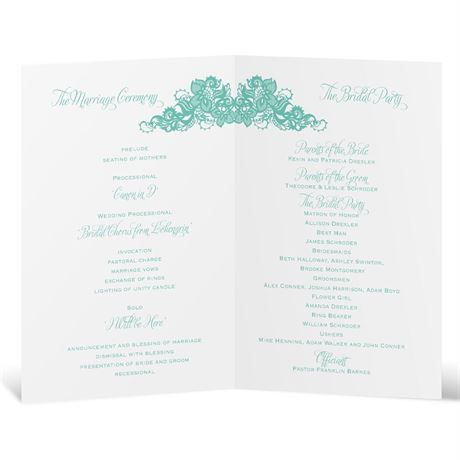 Lovely Lace - Wedding Program