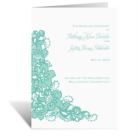 Lovely Lace Wedding Program