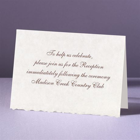 Parchment Deckle Reception Card