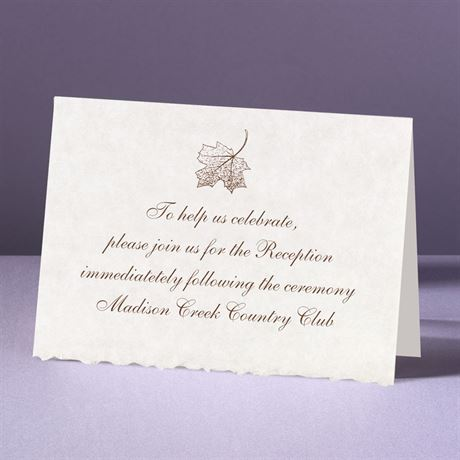 Falling In Love Reception Card