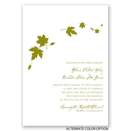 Fall Leaves - Invitation