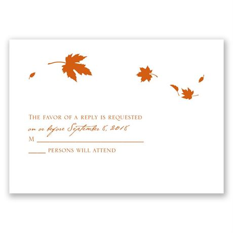 Fall Leaves Response Card