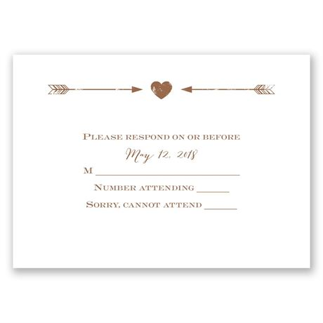 Rustic Arrow Response Card