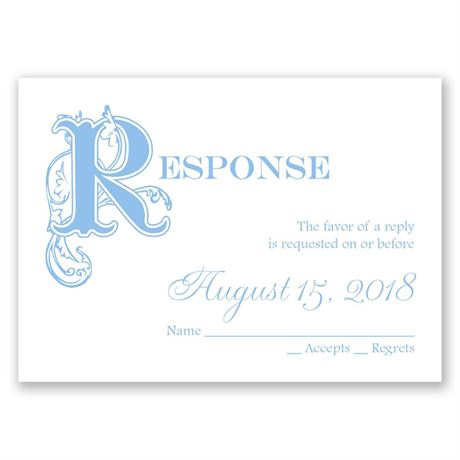 Our Fairytale Response Card