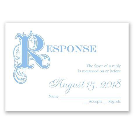 Our Fairytale - Response Card