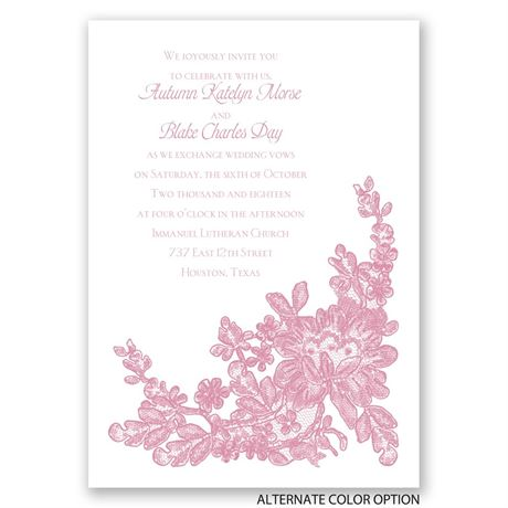 Lace Detail - Invitation