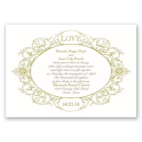 Vintage Love Invitation