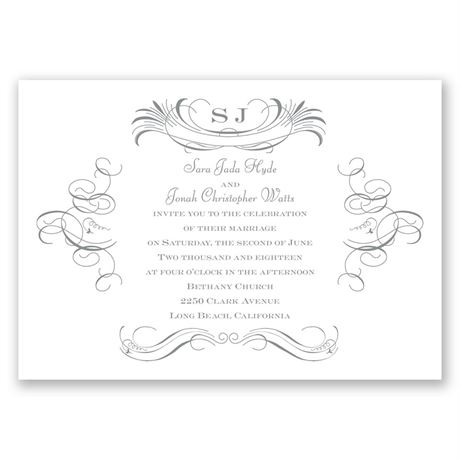 Pretty Swirls Invitation