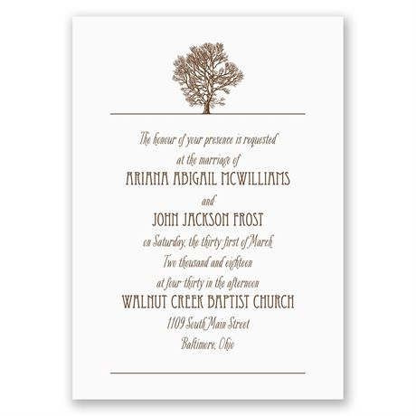 Oak Tree - Invitation