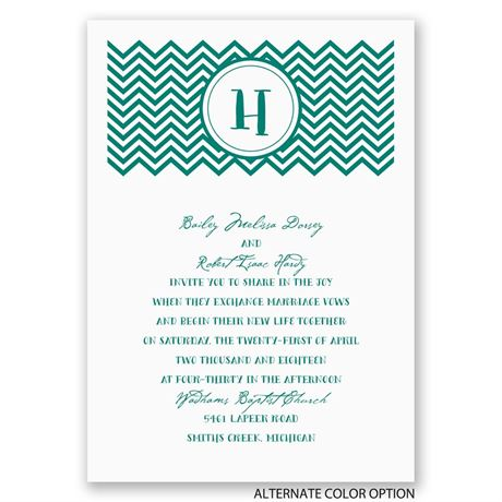Quirky Chevron - Invitation