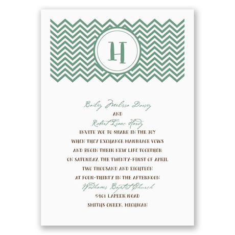 Quirky Chevron Invitation
