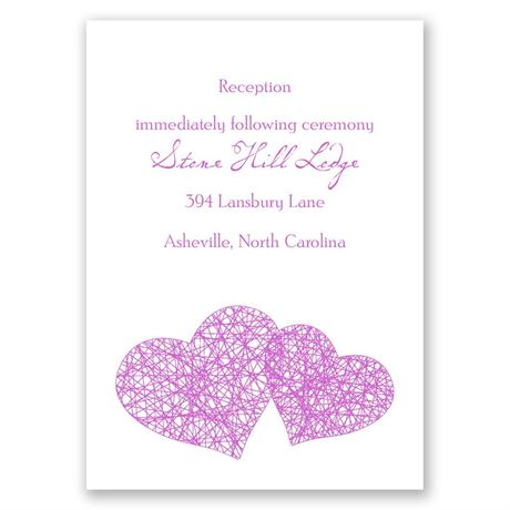 Entangled Reception Card