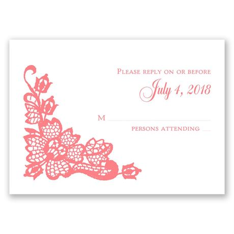 Lacy Floral Response Card
