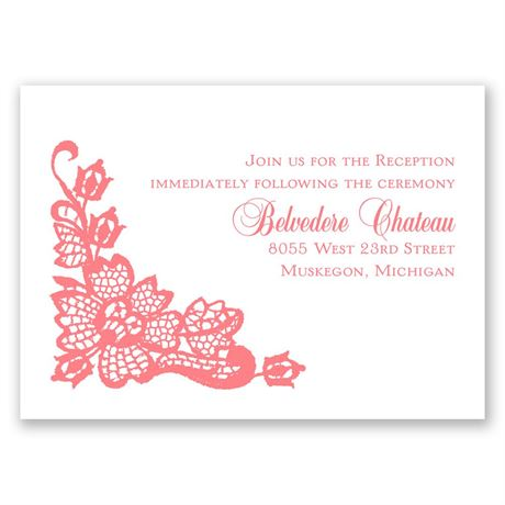 Lacy Floral Reception Card