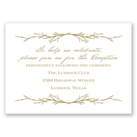 Natural Love Reception Card