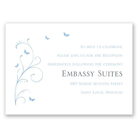 Butterfly Journey Reception Card