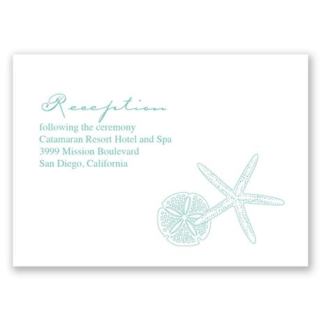Starfish Fancy Reception Card