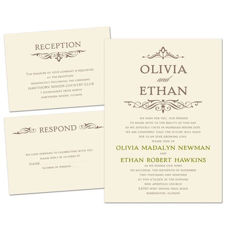 Simply Stylish Separate And Send Invitation Ann S Bridal