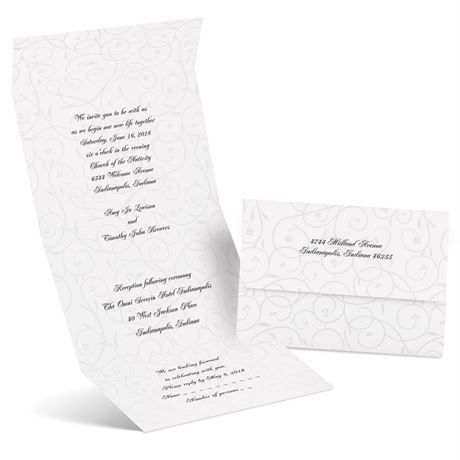 Swirls in Pearl Seal and Send Invitation