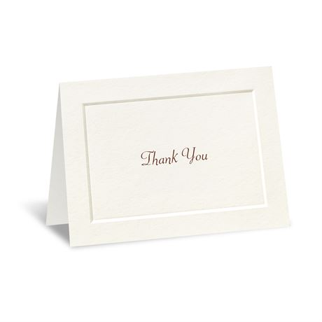Ecru Thank You Card and Envelope