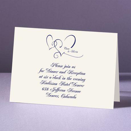 With Love Ecru Reception Card