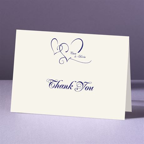 With Love Ecru Thank You Card and Envelope