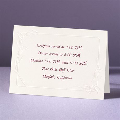Crazy For Callas Reception Card