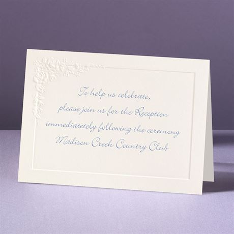 Cherished Roses Reception Card