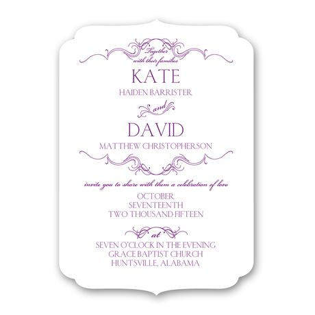 Simply Beautiful Petite Invitation