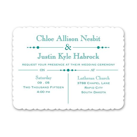 Skillfully Scalloped Petite Invitation