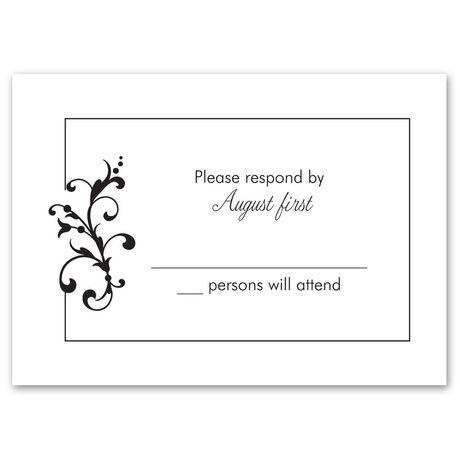 Filigree Perch Response Card and Envelope
